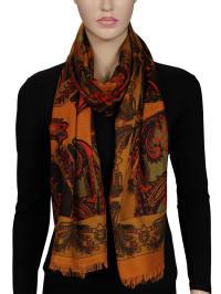 Stella D'Oro Schal in Orange/ Bunt - (B)95 x (L)194 cm