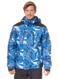 "Icepeak Ski-/ Snowboardjacke ""Neville"" in Blau/ Weiß/ Schwarz"