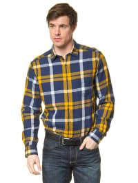 Mexx Hemd in Blau/ Gelb/ Weiß