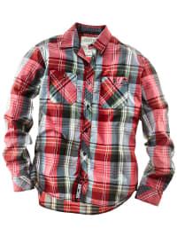 Roadsign Hemd in rot/ grau