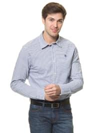 Mexx Hemd in Weiß/ Blau