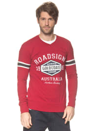 Roadsign Pullover in Rot
