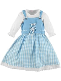 Topo 2tlg. Outfit in Hellblau/ Weiß