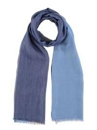 Marc O'Polo Woll-Schal in Blau/ Hellblau - (B)75 x (L)200 cm