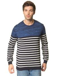 Mexx Pullover in Blau/ Schwarz