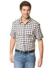 Mexx Hemd in blau/ weiß/ gelb