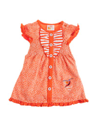 Dutch Bakery Kleid in orange/ weiß