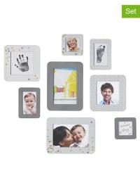 Baby Art 10tlg. Bilderrahmen- und Stempelset in Grau/ Weiß