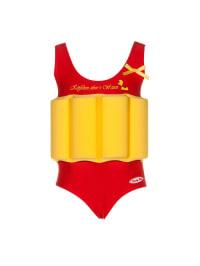 """Beverly Kids Badeanzug """"Entchen"""" mit Schwimmhilfe in Rot/ Gelb"""