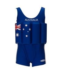 """Beverly Kids Schwimmanzug """"Australia"""" mit Schwimmhilfe in Blau"""
