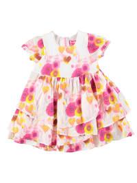 Pampolina Kleid in Weiß/ Pink/ Orange