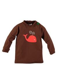 Green Cotton Schwimmshirt in Braun/ Orange