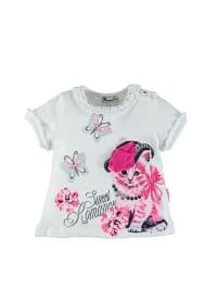 Pampolina Shirt in Weiß/ Pink