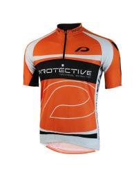 """Protective Fahrradtrikot """"Matthew"""" in Orange/ Schwarz"""