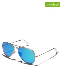 "Ray Ban Unisex-Sonnenbrille ""Aviator"" in Gold/ Blau"