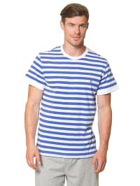 Marc O'Polo Shirt in Blau/ Weiß