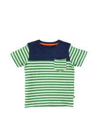 "Color Kids Shirt ""Miran"" in Grün/ Weiß/ Dunkelblau"