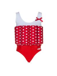 """Beverly Kids Badeanzug """"Rock'n Roll Girl"""" mit Schwimmhilfe in Weiß/ Rot"""