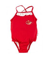Sterntaler Badeanzug in Rot/ Weiß