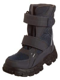 Richter Shoes Stiefel in Dunkelblau/ Anthrazit