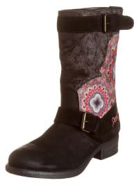 """Desigual Boots """"Combat"""" in Schwarz/ Bunt"""