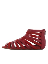 "Flip Flop Leder-Sandalen ""Caligo"" in Bordeaux"