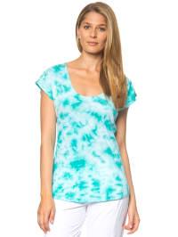 "Venice Beach Shirt ""Miami"" in Türkis/ Weiß"