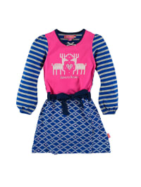 Dutch Bakery Kleid in Blau/ Fuchsia