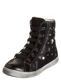 Primigi Leder-Sneakers in schwarz