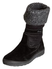 Primigi Leder-Stiefel in Schwarz/ Grau