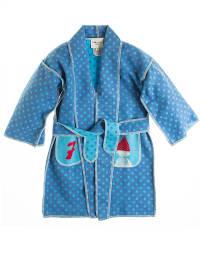 "David Fussenegger Kinder-Kimono ""7 Zwerge"" in blau"