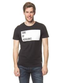 Jack & Jones Shirt in Schwarz/ Weiß