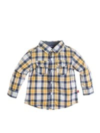 Paglie Hemd in Creme/ Blau/ Gelb