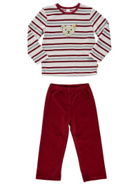 Steiff Pyjama in Bordeaux/ Beige