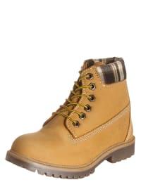 S. Oliver Leder-Boots in Camel