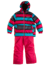 "Color Kids Skioutfit ""Guide"": Skijacke und Skihose in Pink/ Türkis"