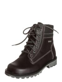 Richter Shoes Leder-Schnürboots in Schwarz