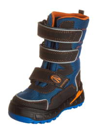 Richter Shoes Stiefel in Blau/ Anthrazit/ Orange