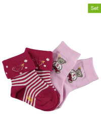Steiff 2er-Set: Socken in Fuchsia/ Rosa
