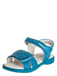 Gabor Leder-Sandalen in Blau