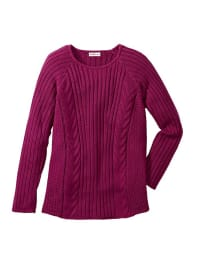 Sheego Pullover in Beere