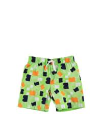 "Legowear Badeshorts ""Percey 503"" in Hellgrün/ Orange/ Dunkelblau"