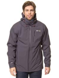 "Regatta 3in1-Funktionsjacke ""Carrington"" in Anthrazit/ Schwarz"
