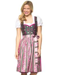 """Turi Landhaus Midi-Dirndl """"Lisa"""" in Pink/ Grün"""