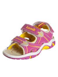 """Kamik Sandalen """"Topsail"""" in Pink/ Gelb"""