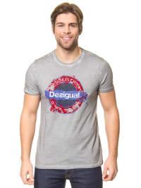 """Desigual Shirt """"Underground"""" in Grau"""