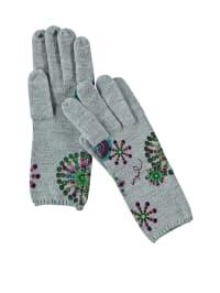"Desigual Handschuhe ""Constellation"" in Grau/ Bunt"