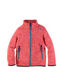 CMP Strickfleece-Jacke in Rot/ Blau