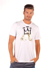 Adidas Shirt in Weiß/ Schwarz/ Gold