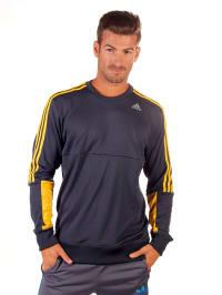 Adidas Sweatshirt in Dunkelblau/ Gelb